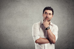 Thinking businessman Stock Images