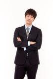 Thinking businessman isolated on white Stock Photo