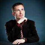 Thinking businessman portrait Royalty Free Stock Photography