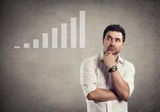 Thinking businessman Stock Image