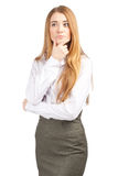 Thinking businesswoman Stock Image