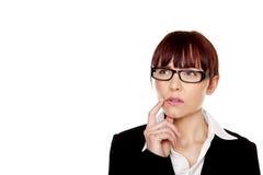 Thinking businesswoman. Stock Photos