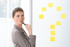Thinking businesswoman Stock Photos