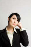 Thinking businesswoman Stock Photography
