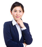 Thinking businesswoman Stock Photo