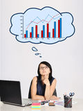 Thinking businesswoman Royalty Free Stock Image