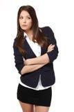 Thinking businesswoman portrait Stock Photos