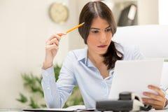 Thinking Businesswoman Royalty Free Stock Photo