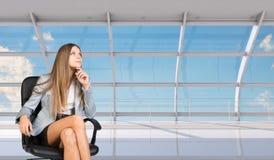 Thinking businesswoman Stock Photography