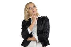 Thinking businesswomen looking up Stock Image