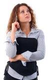 Thinking Casual Girl. Royalty Free Stock Photos