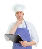 Thinking chef Royalty Free Stock Photo