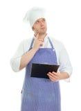 Thinking chef Royalty Free Stock Photos