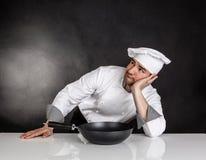 Thinking Chef Stock Image