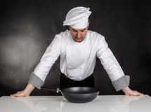 Thinking chef Stock Photo