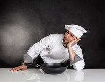 Thinking chef Stock Image