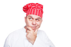 Thinking chef Stock Photography