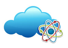 Thinking about chemistry cloud. Illustration design over white Royalty Free Stock Photography