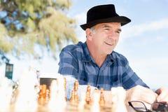 Thinking chess strategy Royalty Free Stock Photos