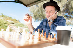 Thinking chess strategy Royalty Free Stock Photography