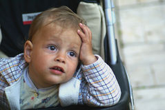 Thinking child royalty free stock photos