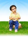 Thinking Child Stock Image