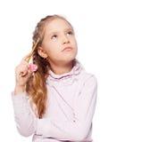 Thinking child Royalty Free Stock Images