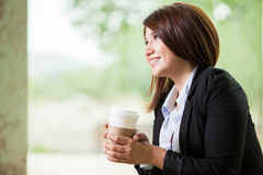 Thinking on a coffee break Stock Photos