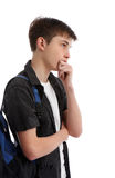 Thinking contemplative student Royalty Free Stock Photo