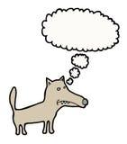 Thinking dog. Hand drawn thinking dog, with bubble vector illustration