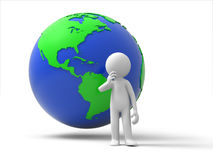 Thinking about earth Stock Images