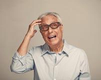 Thinking elderly man. Royalty Free Stock Images