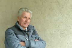 Thinking elderly man Royalty Free Stock Photos