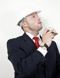 Thinking engineer Stock Photo