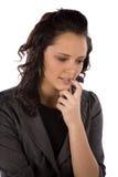 Thinking eye down Stock Image