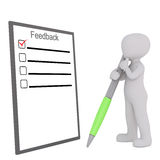 Thinking on feedback concept Royalty Free Stock Images