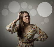 Thinking. Forgetfulness. Stock Photography