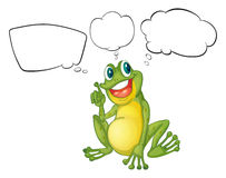 A thinking frog Stock Images