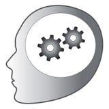 Thinking gears. Cartoon vector illustration of thinking gears Royalty Free Stock Image