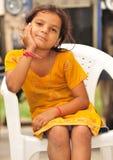 Thinking girl Royalty Free Stock Image
