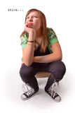 Thinking Girl Stock Photography