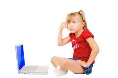 Thinking girl Stock Image