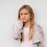Thinking girl royalty free stock photography