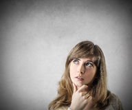 Thinking girl Royalty Free Stock Photography