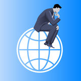 Thinking globally business concept Royalty Free Stock Image