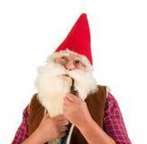 Thinking gnome Stock Photo