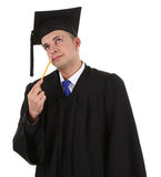 Thinking graduate Royalty Free Stock Image