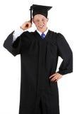 Thinking graduate Royalty Free Stock Photos