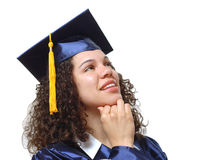 Thinking graduate Royalty Free Stock Photos