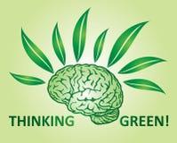 Thinking green Stock Photo